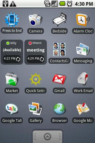 GTalk Status Widget - screenshot