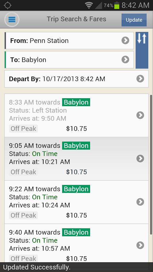 LIRR TrainTime - screenshot