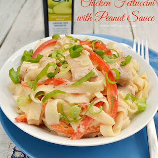 Chicken Fettuccini with Peanut Sauce