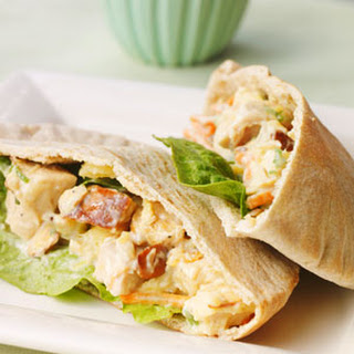 Pineapple Chicken Salad Pitas