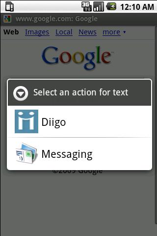 Diigodroid - screenshot