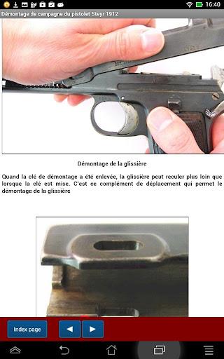 Pistolet Steyr 1912 expliqué