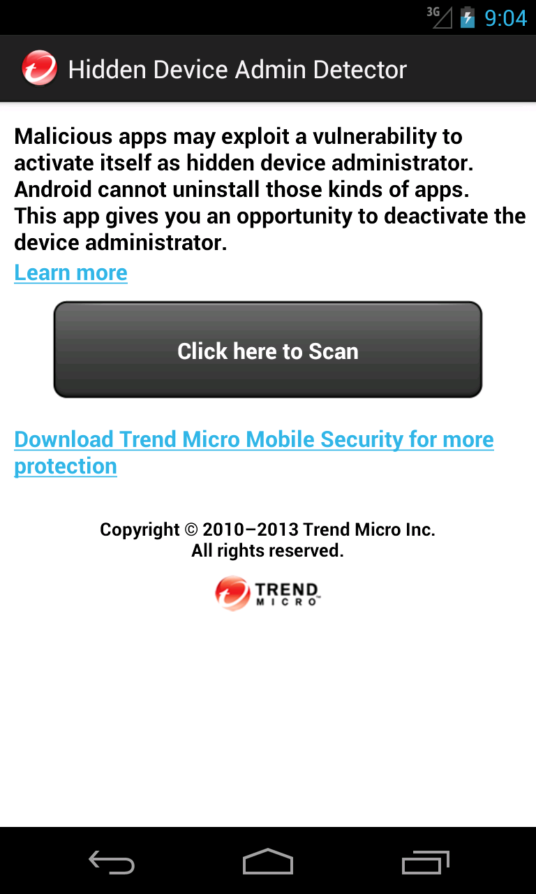 Hidden Device Admin Detector (Android) reviews at Android