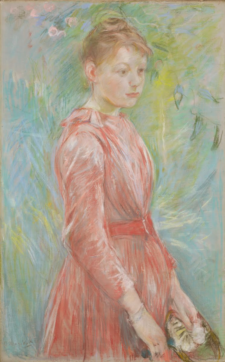 Girl in Rose Dress - MORISOT, Berthe — Google Arts & Culture