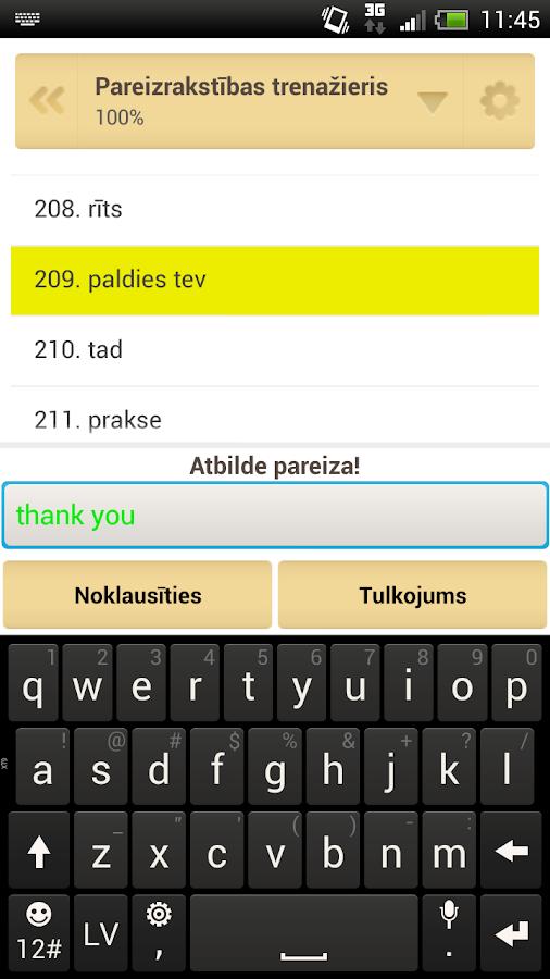 QuickTeacher Angļu valoda - screenshot