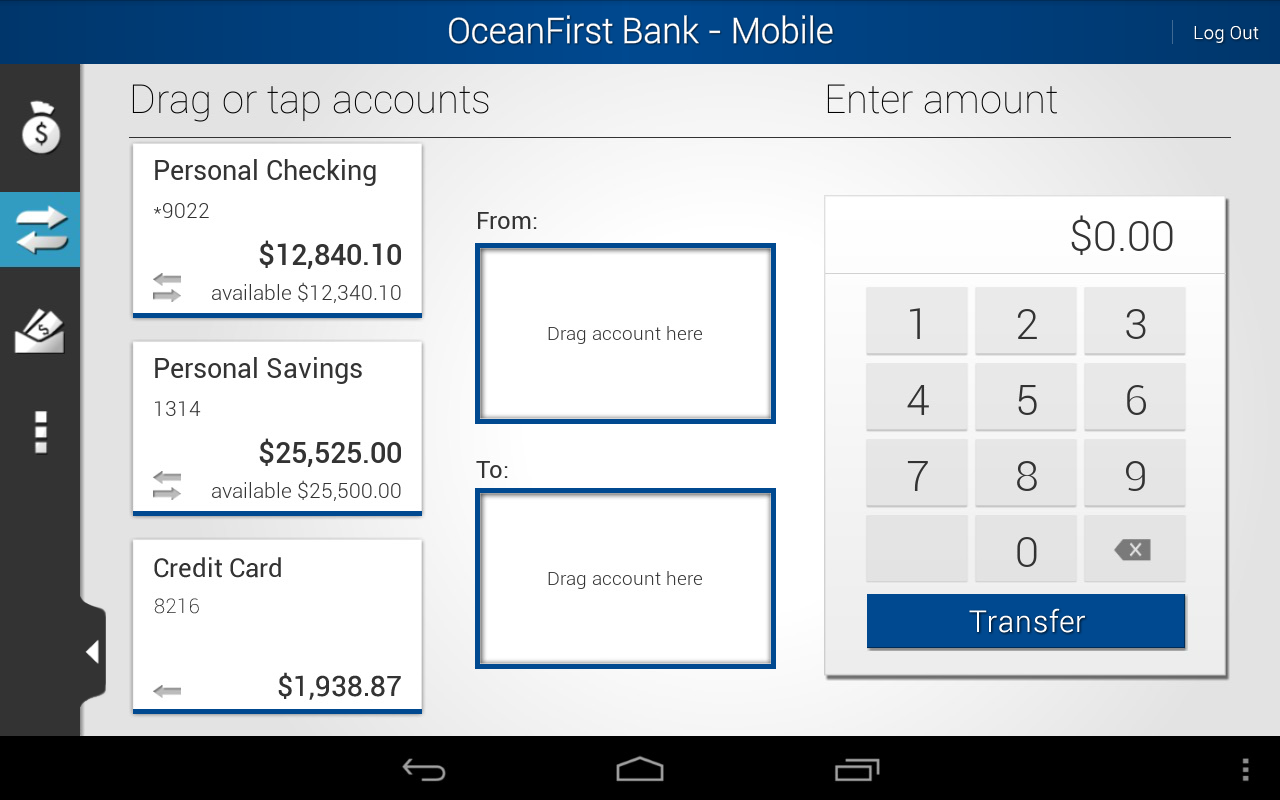 OceanFirst Bank - Mobile- screenshot