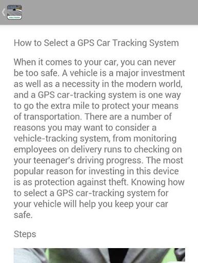 Vehicle Tracking Tips