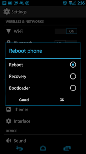 Blue Glow CM11 Theme - screenshot thumbnail