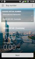Screenshot of Virtual Number