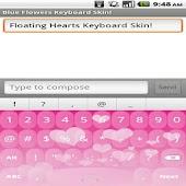 Floating Hearts Keyboard Skin