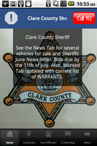 Clare County Sheriff Dept.