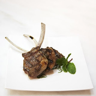 Grilled Lamb Chops with Fresh Mint.