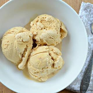 Caramel Ice Cream With Caramel Swirl.