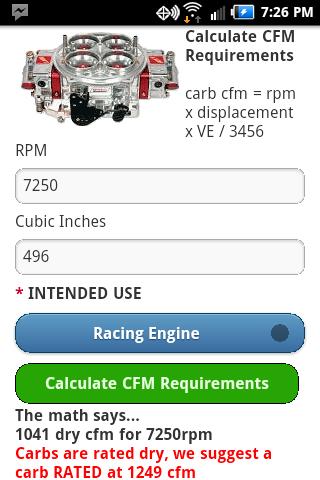AutoMath Racing Calcs Dyno