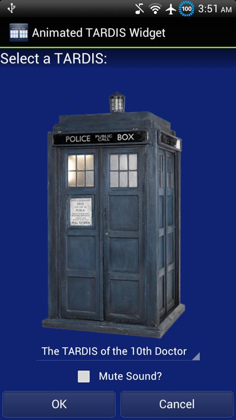 Animated TARDIS Widget - screenshot