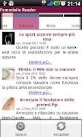 Screenshot of Femminile Reader