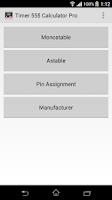 Screenshot of Timer IC 555 Calculator Pro