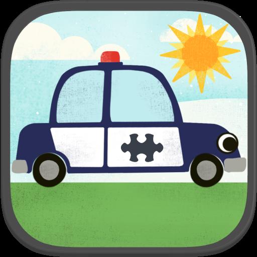 兒童汽車遊戲:趣味卡通飛機,警車,救火車,和汽車高清拼圖 教育 App LOGO-APP開箱王