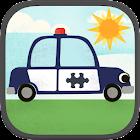 子どものための車ゲーム:パトカー、消防車、車のジグソーパズル icon
