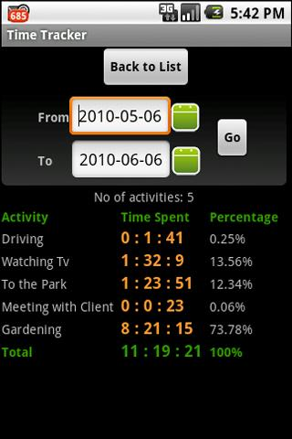 Time Tracker - screenshot