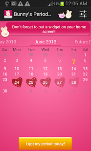 Bunnys Period Calendar/Tracker - screenshot thumbnail