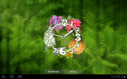 Flower clock live wallpaper android apps on google play for Decor live beautiful app