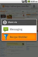 Screenshot of Recipe Distiller