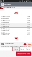 Screenshot of Greater Anglia Tickets