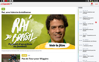 Screenshot of L'Equipe.fr : foot, rugby