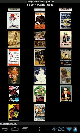 【免費解謎App】Vintage Posters Sliding Puzzle-APP點子