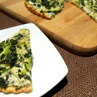 Zucchini Spinach-Artichoke Tart