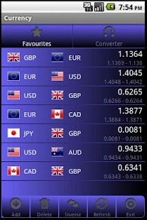 Forex Currency Rates screenshot for Android