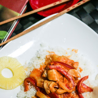 Sweet and Spicy Thai Pineapple Chicken Curry