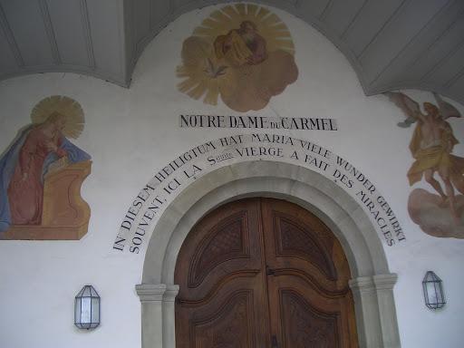 フリブール(スイス)のブルギヨンの聖母マリアの聖堂にて Notre-Dame de Bourgillon a Fribourg