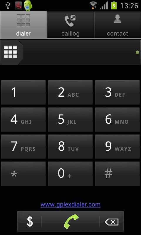 gPlex Mobile Dialer - screenshot