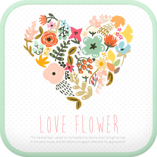 Love Flower go locker theme app (apk) free download for Android/PC/Windows