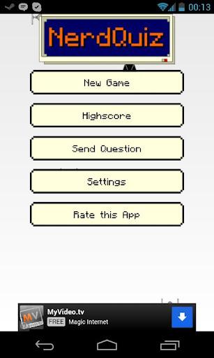 Nerd Quiz Gamer Trivia