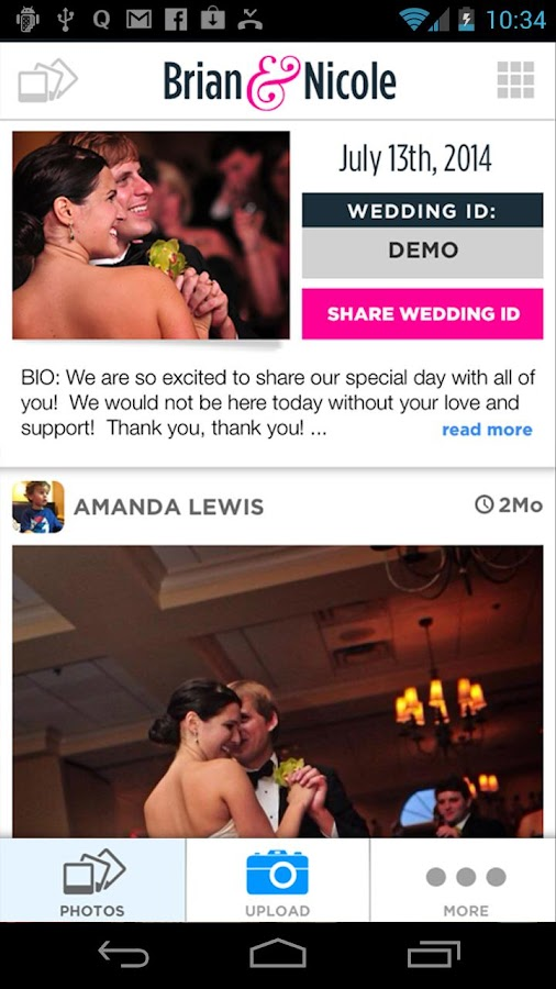 WedPics - Wedding Photo App - screenshot