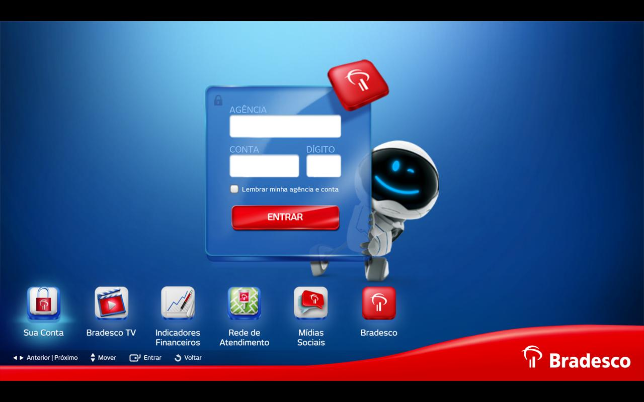 Bradesco para Google TV - screenshot