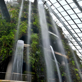 Water fall at MBS by Supriadi Lee - Buildings & Architecture Public & Historical