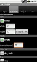 Screenshot of Batch Image