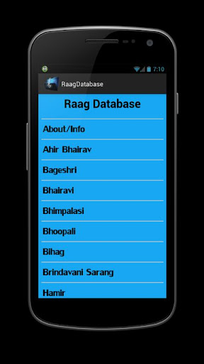 Raag Raga Database