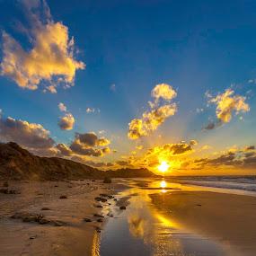 Flow by Assi Dvilanski - Landscapes Beaches ( water, sunset, beach, israel )