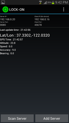 GPS Tether Client (Free) - screenshot