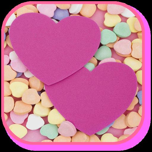 Pink Heart Live Wallpaper LOGO-APP點子