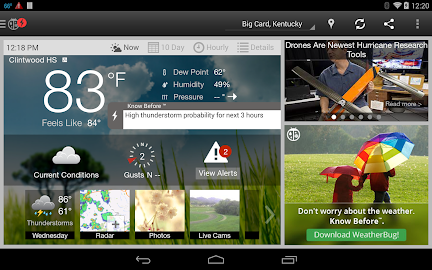 WeatherBug Screenshot 2