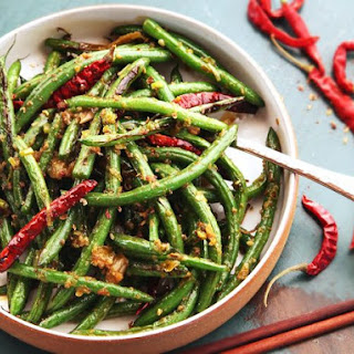 Easy Sichuan Dry-Fried Green Beans (Gan Bian Si Ji Dou) Without a Wok