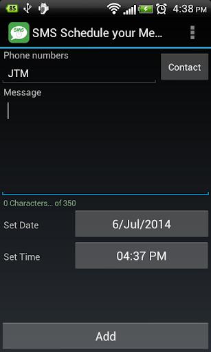SMS - Scheduled Message
