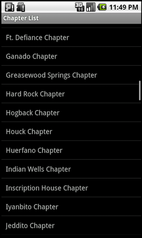 Navajo Chapter Houses: Phones- screenshot