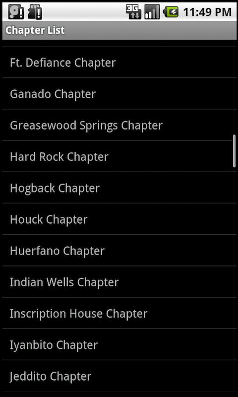 Navajo Chapter Houses: Phones screenshot #3